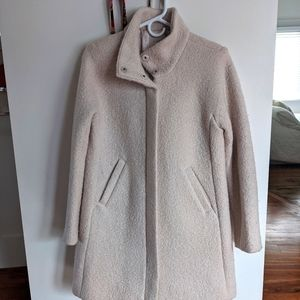 Ann Taylor LOFT Cacoon Coat in Dusty Pink